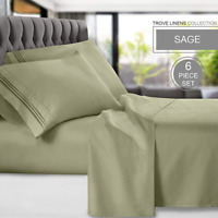 Bamboo Microfiber 1800 Luxury Ultra Soft Bed Sheets Set Deep Pocket