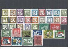Bund, BRD 1960 - 1969, komplette Jahrgänge postfrisch ** (mit allen Blöcken)