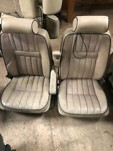 Lot45 RANGE ROVER P38 Electric Leather Seats Cream Blue Piping With DVD TV