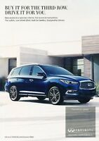 2016 Infiniti QX60 Original Advertisement Print Art Car Ad J547