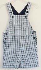 babyGAP Size 18-24 Months Boys Blue Plaids Snap Crotch Fully-Lined Overalls