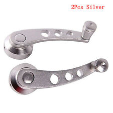 "2Pcs 4.7"" Silver Chrome Aluminum Vehicles Window Winder Glass Door Crank Handles"