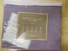 Honeymoon 1800 Brushed Microfiber Embroidered Bed Sheet Set, Light Purple Queen