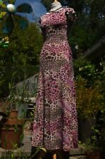 NEW Luxury Leopardskin Stretch Bodycon Long Dress Cap Sleeve by Pistachio