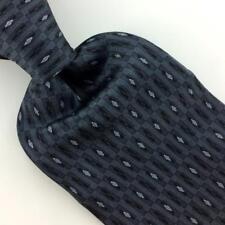 JONES NEW YORK Tie GRAY BLACK Micro Geometric DIAMOND Silk Necktie H3-475 New
