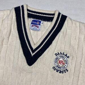 Vintage 90's Dallas Cowboys Knit V-Neck Sweater Men's XL NFL Member Club Rare