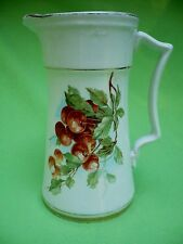Antique porcelain PITCHER w/CHERRIES on both sides.Reminds of Hutschenreuther VG