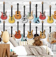EUR 11,66/qm / Gitarren Wandbild / Vliestapete Mauer Gitarren Rock INK 7089
