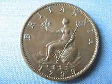 More details for 1799 halfpenny, deep brown beautiful glossy lustre