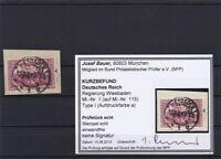 Deutsches Reich: Regierung Wiesbaden,MiNr. 1, Type I,a, gestempelt, BPP Befund