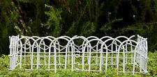 Miniature Dollhouse Fairy Garden Furniture ~ White Wire Fence ~ New