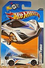 2012 Hot Wheels #96 Faster Than Ever 6/10 MAZDA FURAI White w/Gold FTE2 Spokes