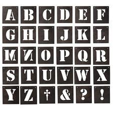 30 Metal Alphabet Letter Symbol Characters Wall Art Decoration 13x15cm per Piece