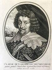 Claude de Lorraine Duc de Chevreuse (1578-1657) par Balthazar MONTCORNET XVIIe