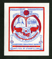 US Stamps Allentown 1938 Expo sheet NH