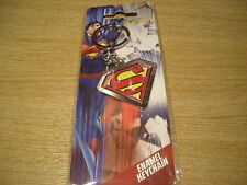DC COMIC BOOK SUPER HEROES MARVEL SUPERMAN ENAMEL KEYCHAIN - NEW IN PACKAGING