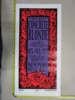 2003 Rock Roll Concert Poster Concrete Blonde Mike Martin S/N LE #100