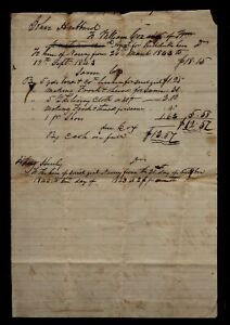 """1843 North Carolina SLAVE DOCUMENT for """"Hire"""" of """"Nancy"""" & her clothing !"""