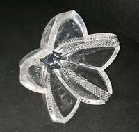 "WATERFORD Crystal  Centerpiece Bowl - Modern Geometric Star 7"" x 5"""