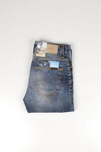 31265 Nudie Jeans Düster Tim Gebraucht Blackcoated Blau Herren Jeans Größe 30/32