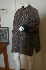 hand knitted pure WOOL CARDIGAN speckled French Wool .  Made In Victoria.