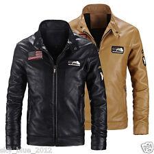2018 Mens USA Flag Motorcycle Jacket Lambskin Leather 101ST AIRBORNE Jacket Coat