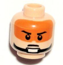 LEGO Star Wars CLONE PILOT Minifigure Flesh Orange HEAD Captain Jag/Zev Senesca
