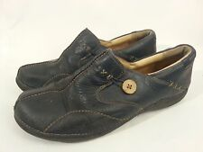 Clarks UnStructured un loop 85074 Navy Leather Flats Loafers Womens Sz 11 M used