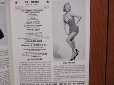 May-1956 Indianapolis TV News Mag(CINDY LINDT/JAYNE &  AUDREY MEADOWS/PERRY COMO