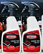 2 Weiman GLASS COOK TOP DAILY CLEANER For Light Cleanups 12 oz