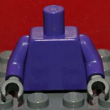Lego Torso Purple Torso Plain Dark Purple Arms Dark Bluish Gray Hands