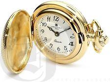 New Charles-Hubert 14k Gold Plated Quartz Pendant Watch 6823