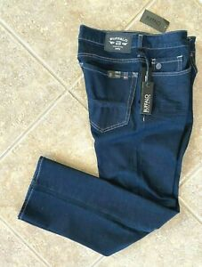 Buffalo Jeans Six-X Straight Stretch Fit Men's 34 x 34 Dark Blue Denim NWT $99