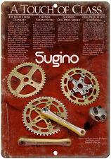 """1981 Sugino BMX Cranks Racing 10"""" x 7"""" retro metal sign"""