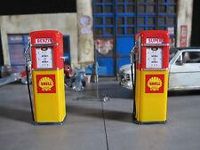 Zapfsäule Tanksäule SHELL Gas Pump Tankstelle Diorama Deko Modell Zubehör 1/18