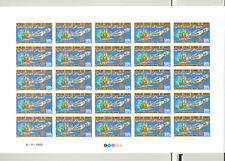 Comoros #619-622 Rotary, Space, Aviation 4v Imperf M/S of 25