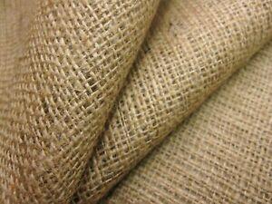 "Hessian Fabric - 44"" Wide Woven Natural Jute Burlap Garden Craft Sack-Upholstery"