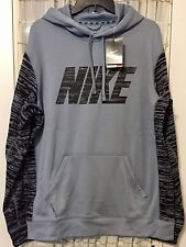 SZ XL COOL NEW !! Nike Men's Knock Out Black Camo Pullover Hoodie Therma-Fit