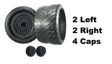 Power Wheels N8417 Cadillac Escalade EXT 4 Tires 2 Left & 2 Right GENUINE + Caps