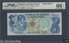 Philippines 2 Piso 1949(ND ca.1970s) P152s1 Specimen Uncirculated