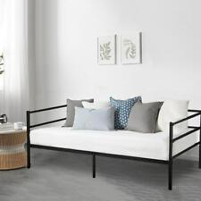 Daybed Frame Twin Daybed Metal Platform Bed Heavy Duty Steel Slats  Box Spring