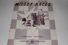 Midget Car Auto Racing Program, Gardena Stadium, California, June 3, 1960