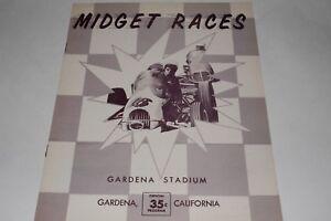 Midget Car Auto Racing Program, Gardena Stadium, California, June 3, 1960