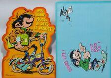 """GASTON LAGAFFE Franquin maxi carte postale """" moi quand j'écris ... """" + envelop"""