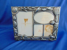 Beautiful Baby metal picture frame 4 photo spaces trains boat hobby horse art