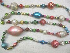 Antique Garland German Glass Beads Unusual Colors And Shapes