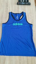Adidas ESS Tank Top funktionell Damen Fitness Freizeit Shirt grau//blau gestreift