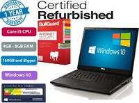 "Dell Latitude E6410 14.1"" Ci5 2.4GHz UPTO 8GB Ram 1TB HDD/SSD Options Windows10"