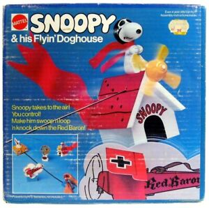 Vintage Charlie Brown Snoopy Flying Doghouse Red Baron VertiBird Sealed NIB Box