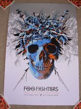 FOO FIGHTERS concert gig poster print PERTH 3-8-15 2015 print ken taylor